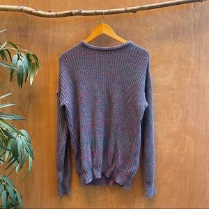 American apperal purple blue knit pullover sweater